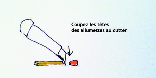 Cutter allumette