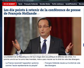 Hollande conférence de presse Le Monde