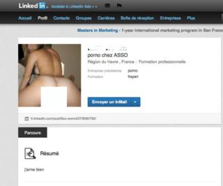 profil porno sur Linkedin