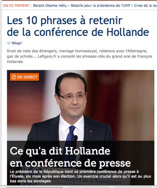 Hollande conférence de presse Le Figaro